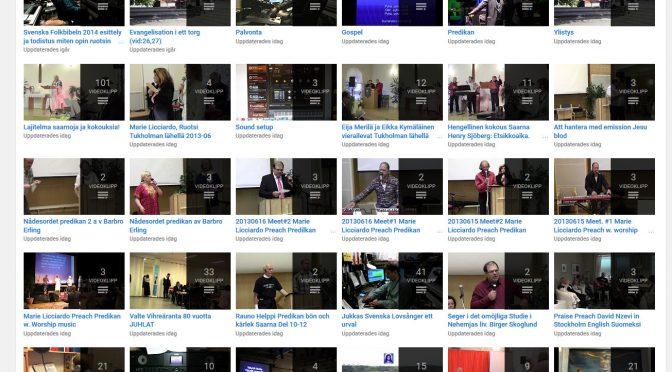 Vanha Youtubekanava 780 videota on avattu uudelleen näkyviin evankeliumin tähden