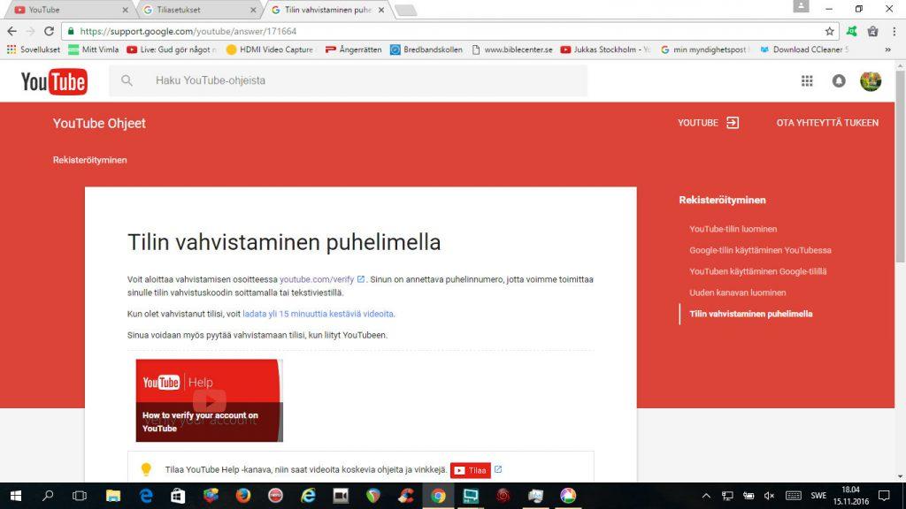 youtube-tilin-vahvistaminen-puhelimella