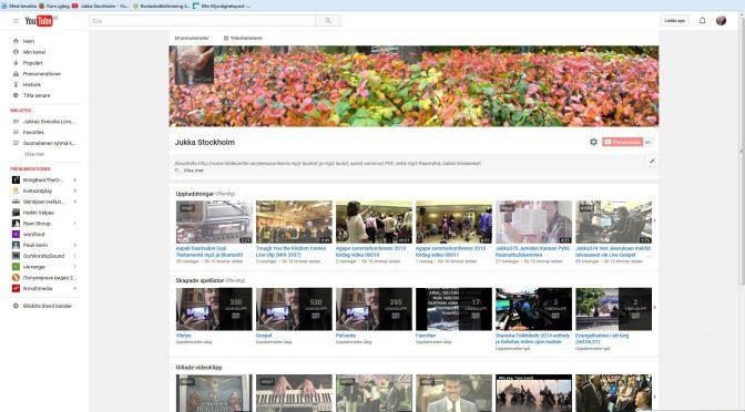 Jag öppnade igen mitt gammal Youtube kanal för evangeliets skull, 780 videor