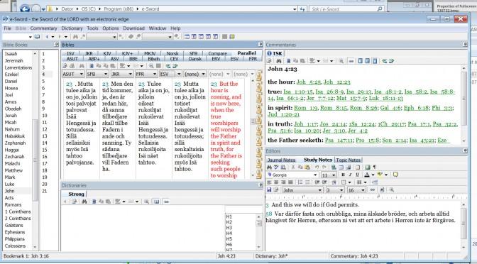 ASUT raamattu e-Sword Windows raamattuohjelmalle