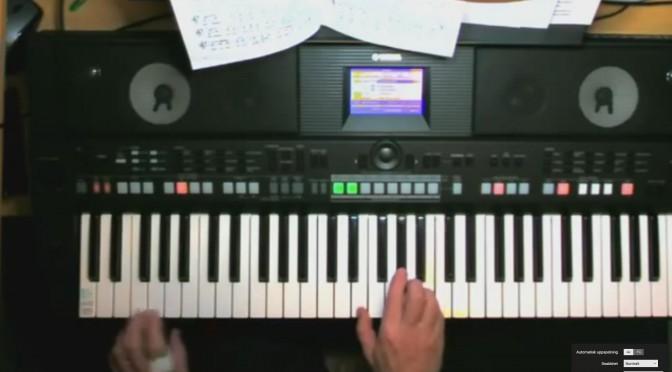 Jukka101 Jeesuksen veressä voima on Yamaha PSR S650 kosketinsoittimella piano