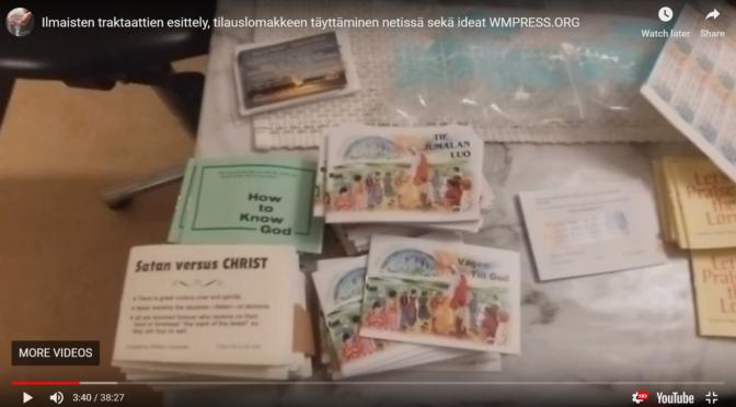 Tilaa ja jaa WMPress Ilmaisia traktaatteja, esittely ja engl. tilauslomakkeen täyttöohjeet suomeksi!