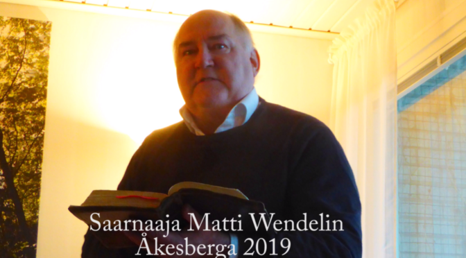 Parantuminen uskon kautta Jeesuksen ihmeenä, saarna Matti Wendelin
