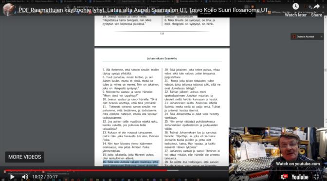 Tarkkoja Raamattuja PDF muodossa 27 versiota ilmaiseksi