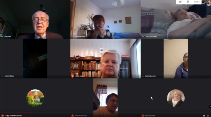 Pidämme rukouskokouksia ryhmä videopuheluna Google Meet järjestelmässä. Tervetuloa