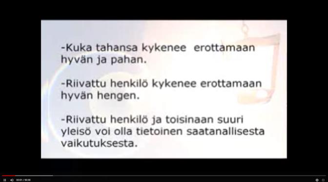 HENKIEN EROTTAMISEN LAHJASTA OPETUSTA YM