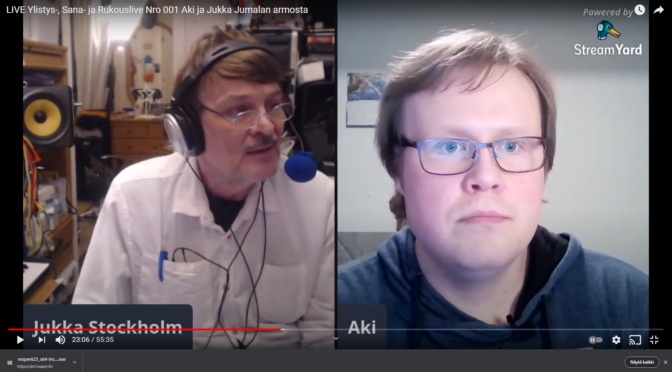 Ratkaisu ongelmaan kielilläpuhumisen kautta – LIVE YLISTYS SANA JA RUKOUS Aki ja Jukka.
