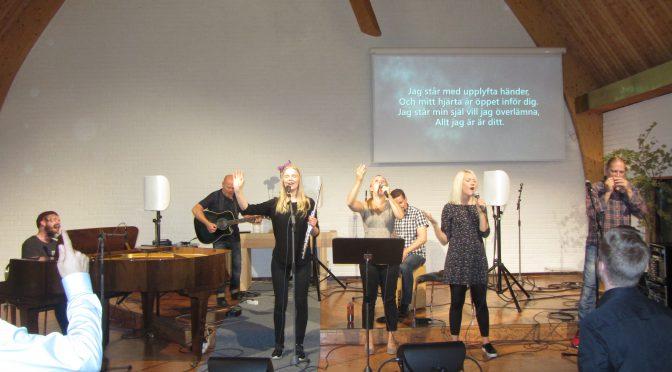 Patrick Tiainen predikan saarna lovsånger ylistys i den onsdag 2016-09-14